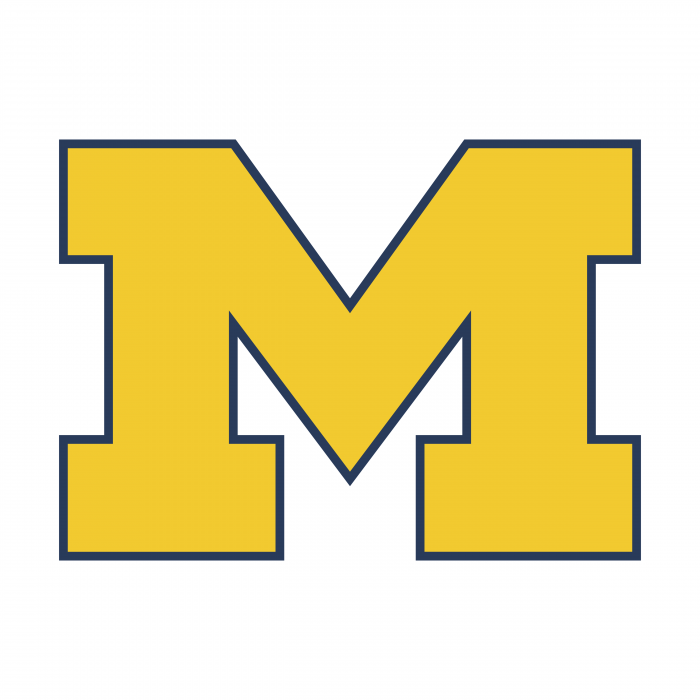 M Wolverines logo yellow