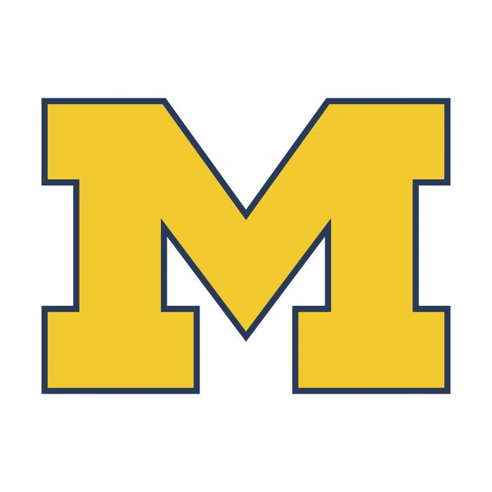 M Wolverines logo yellow