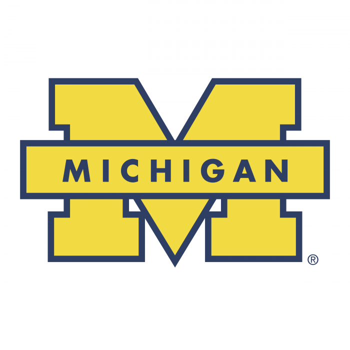 Michigan Wolverines logo yellow