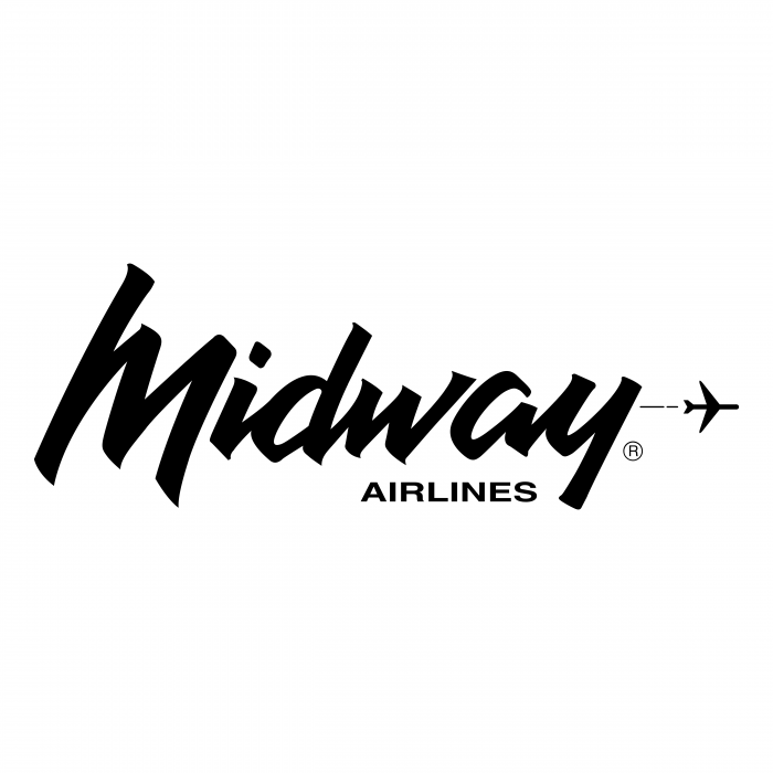 Midway Airlines logo black