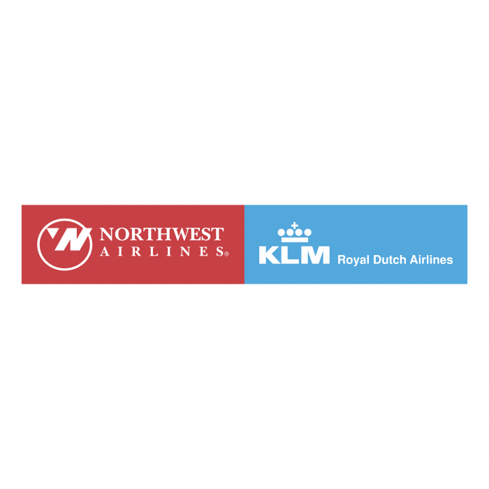 Northwest Airlines logo KLM