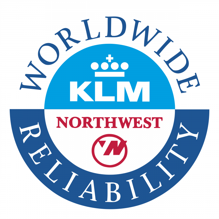 Northwest Airlines logo KLM cercle