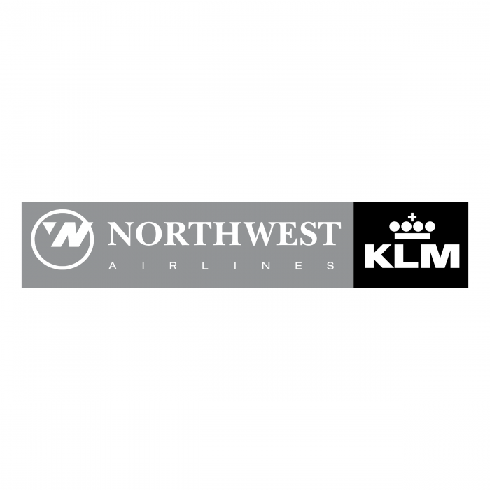 Northwest Airlines logo KLM grey