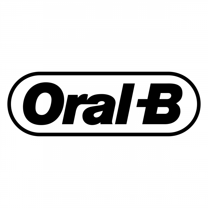Oral B logo white