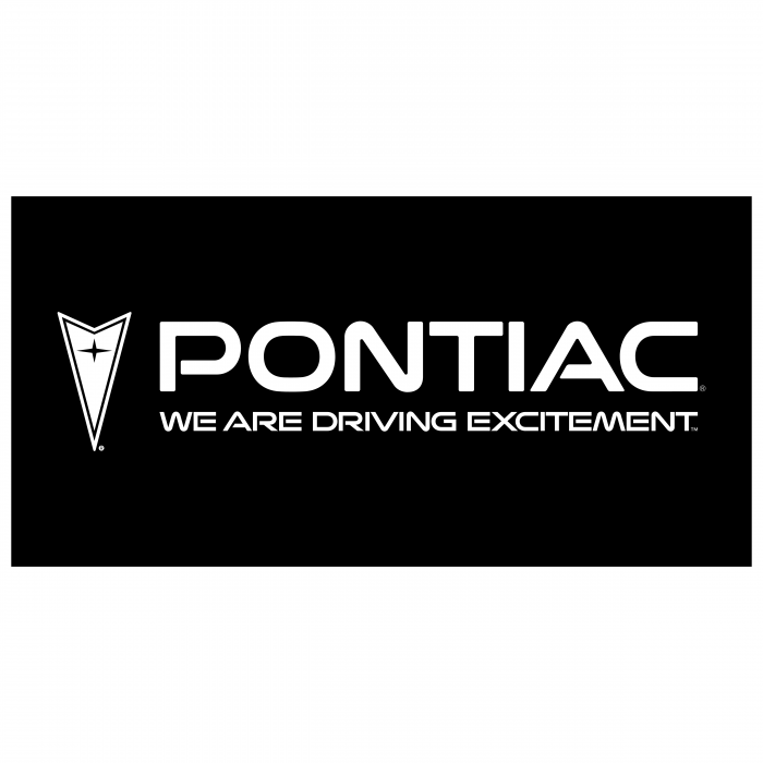 Pontiac logo black cube
