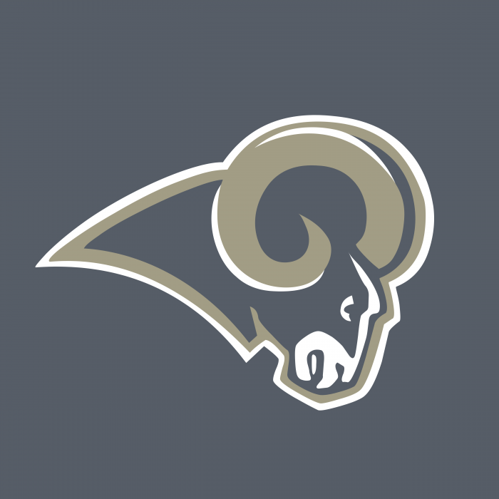 St. Louis Rams logo ram grey