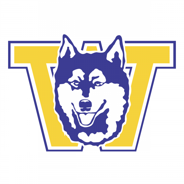 W Huskies logo yellow