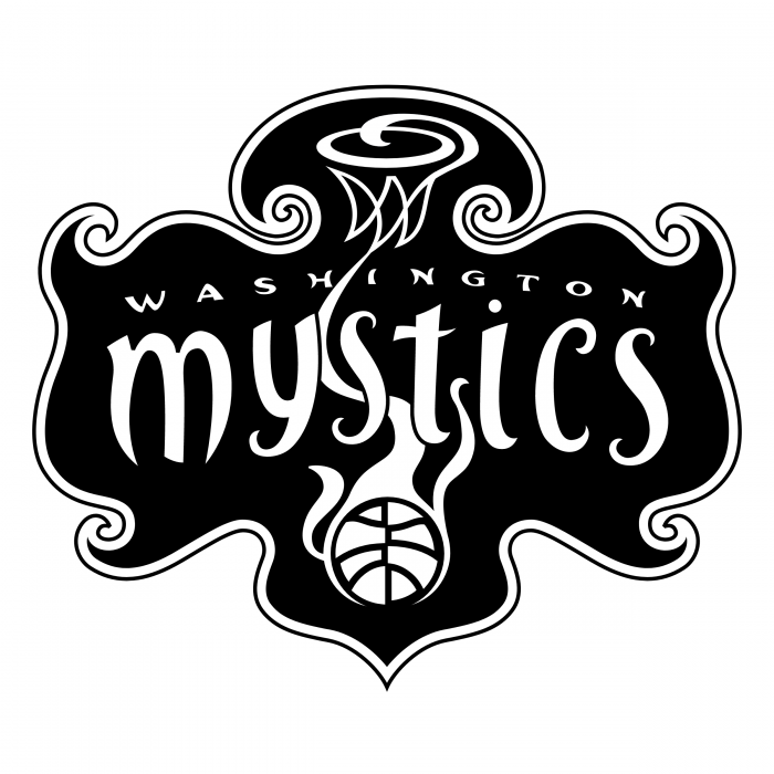 Washington Mystics logo black