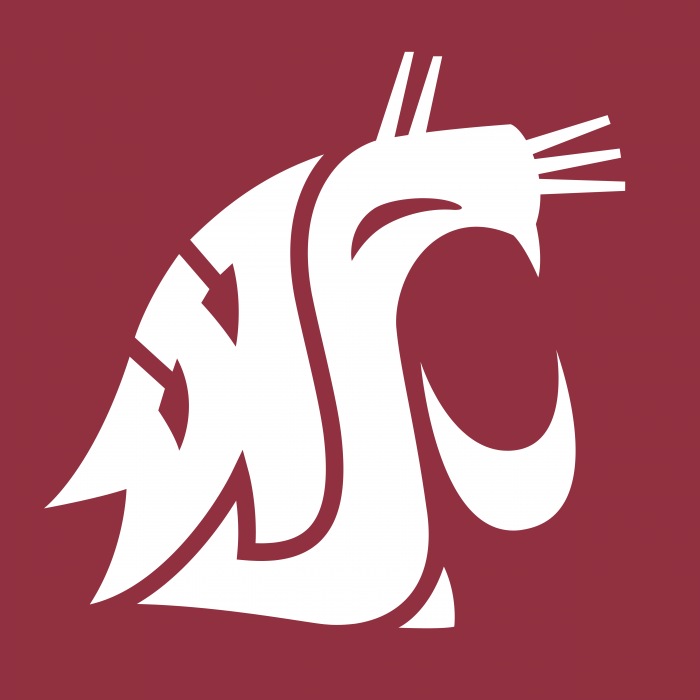 Washington State Cougars logo cube
