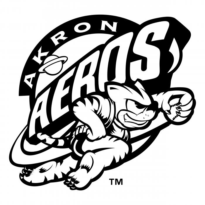 Akron Aeros logo white