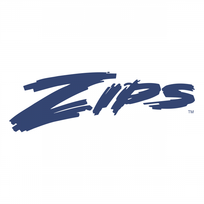 Akron Zips logo blue