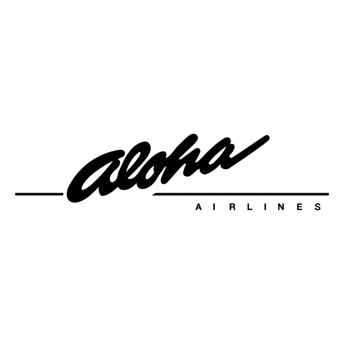 Aloha Airlines logo black