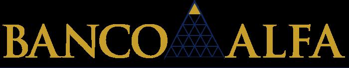 Banco Alfa logo gold