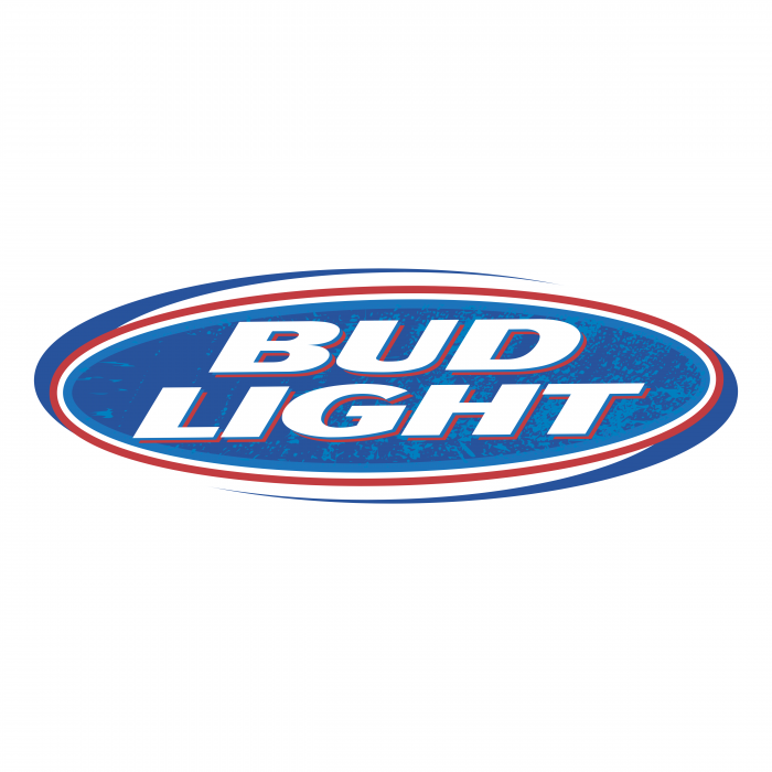 Bud Light logo blue red oval