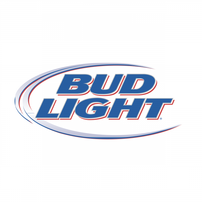 Bud Light logo blue silver