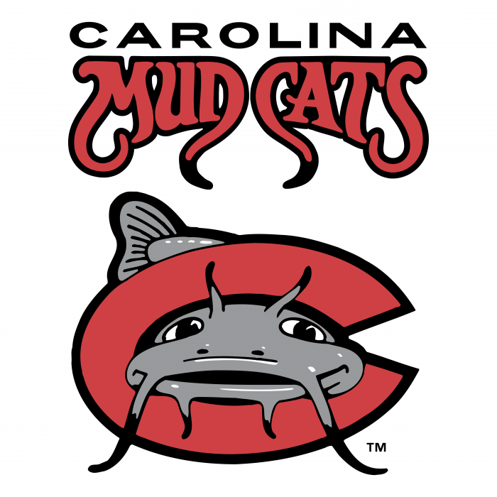 Carolina Mudcats logo red