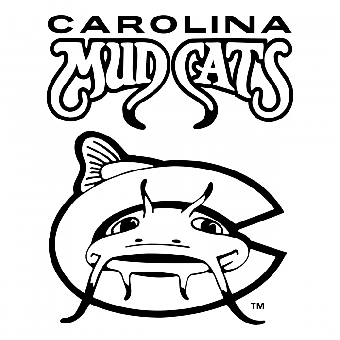 Carolina Mudcats logo white