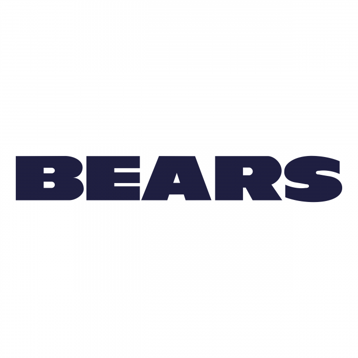 Chicago Bears logo black