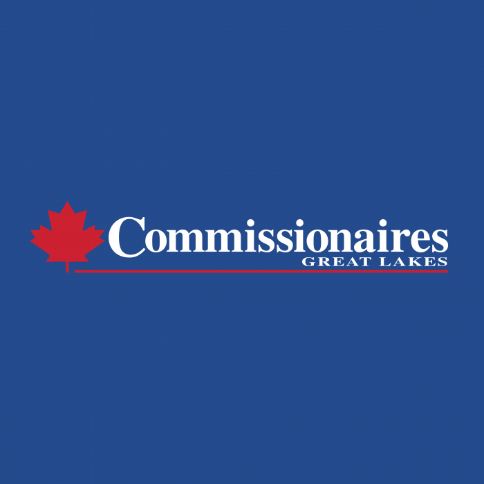 Commissionaires Great Lakes logo blue