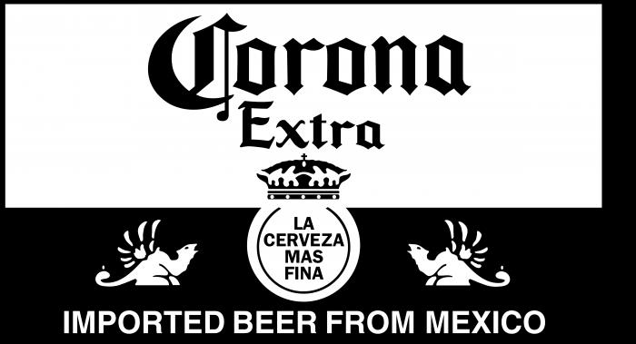 Corona logo balck