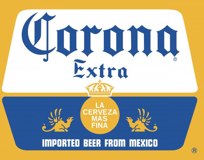 Corona logo yellow