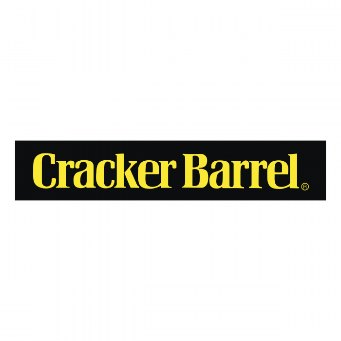 Cracker Barrel logo balck