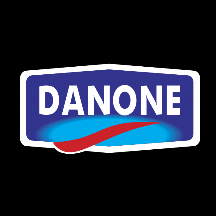 Danone logo blue