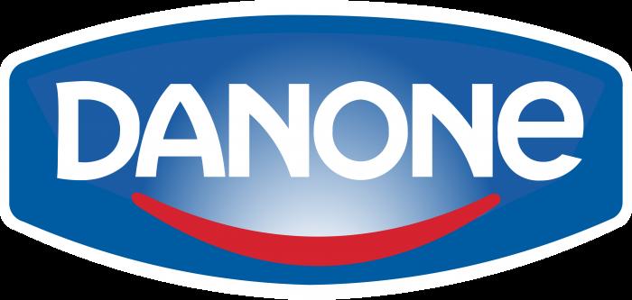 Danone logo blue white