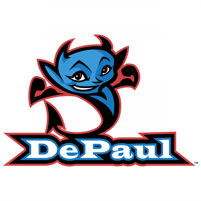DePaul Blue Demons logo blue