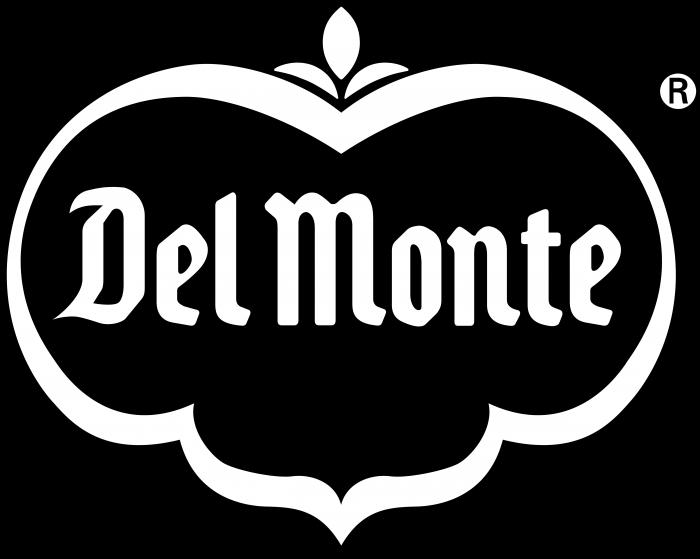 Del Monte logo black