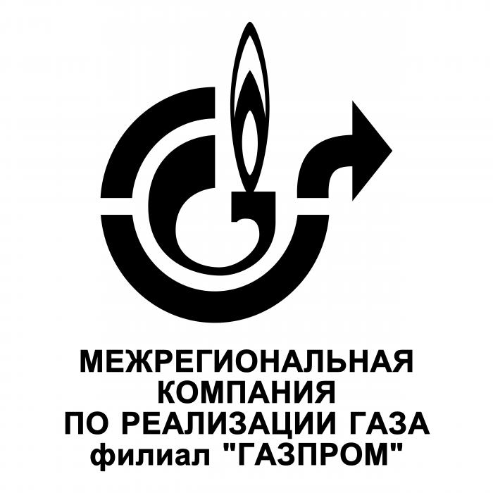 Gazprom Filial logo black rus