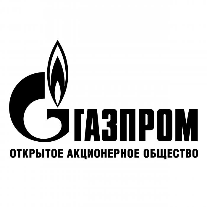 Gazprom logo black