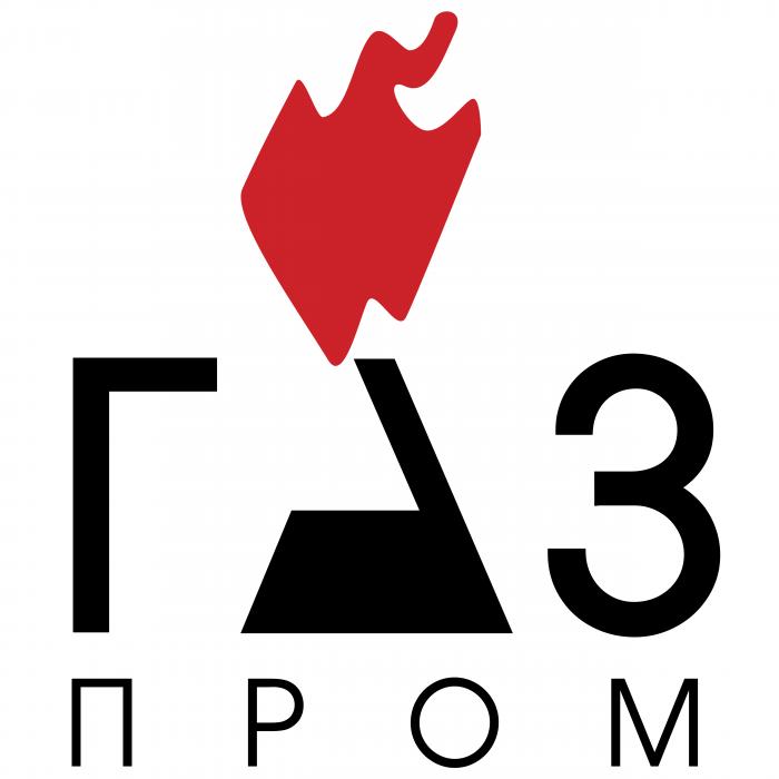 Gazprom logo rus