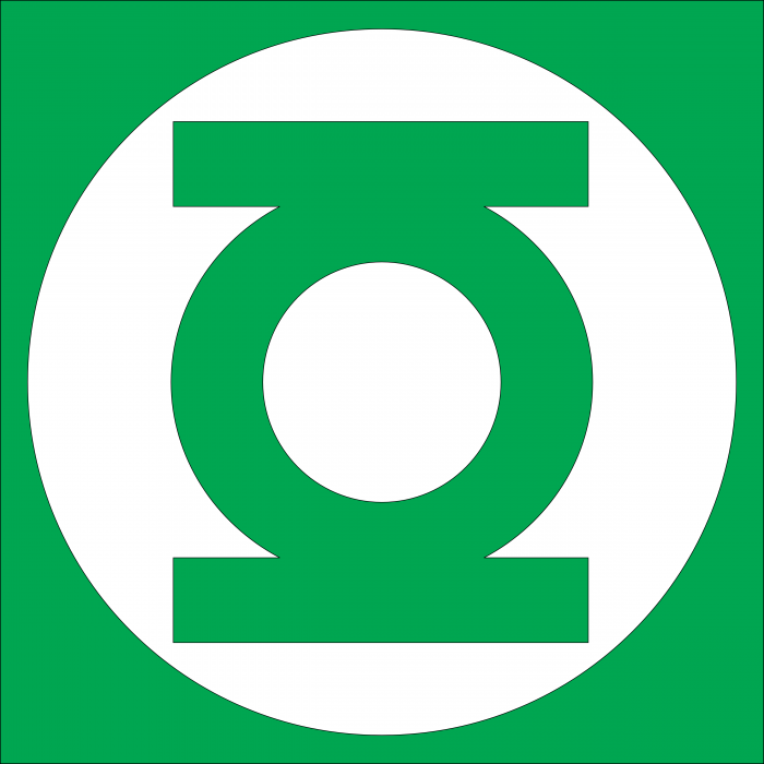 Green Lantern logo cube