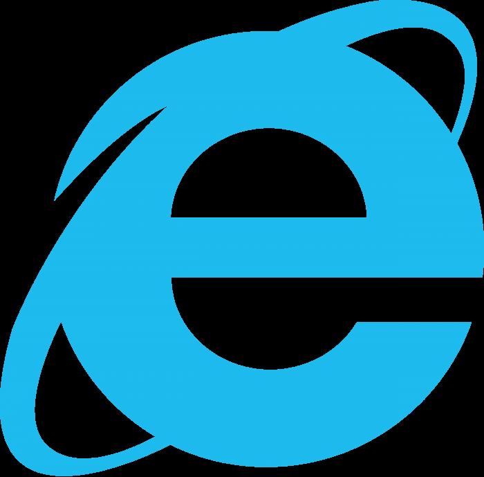 Internet Explorer logo blue