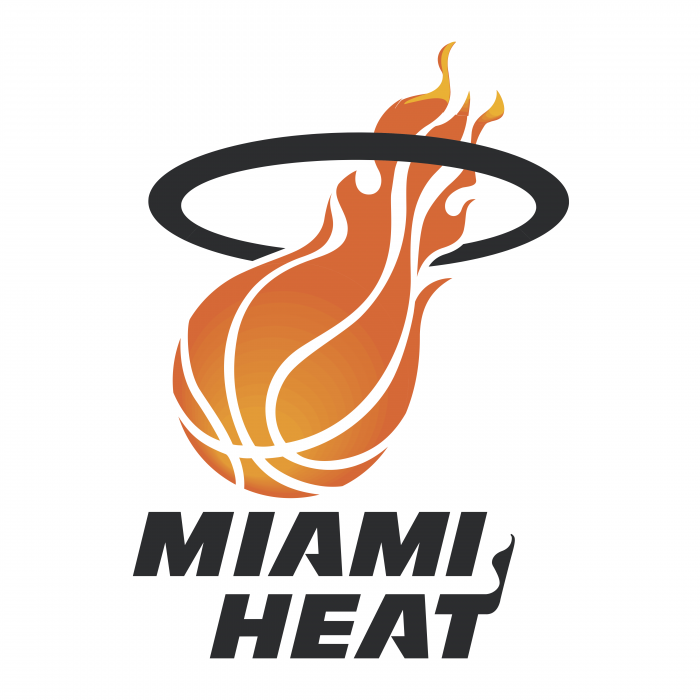 Miami Heat logo fire