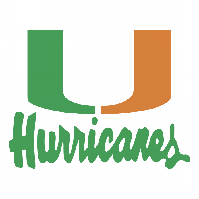 Miami Hurricanes logo green