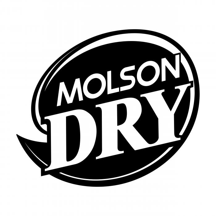 Molson Dry logo black