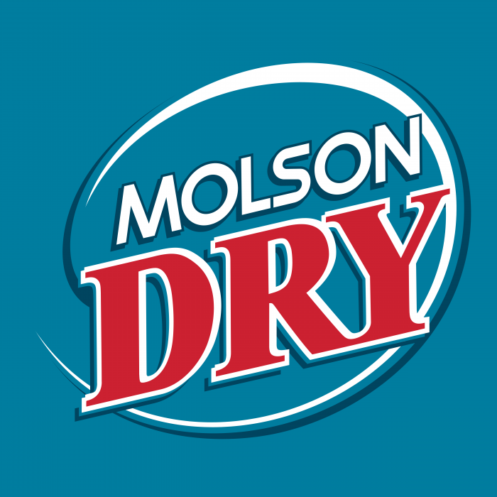 Molson Dry logo blue