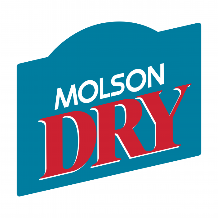 Molson Dry logo blue red