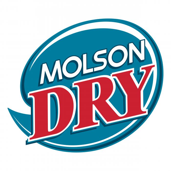 Molson Dry logo blue oval