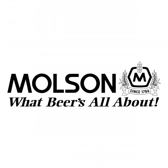 Molson logo blackM