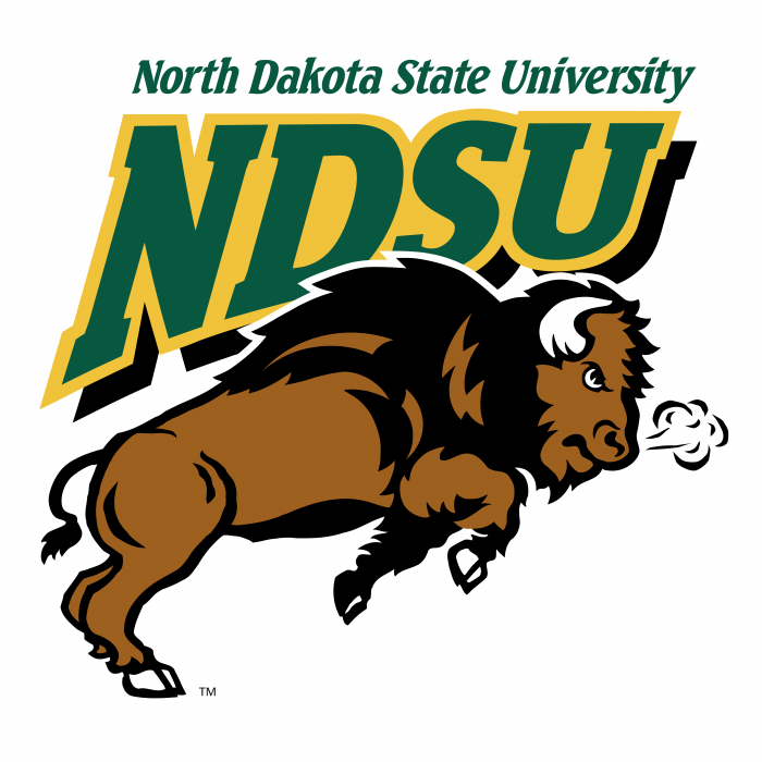 NDSU Bison logo colored
