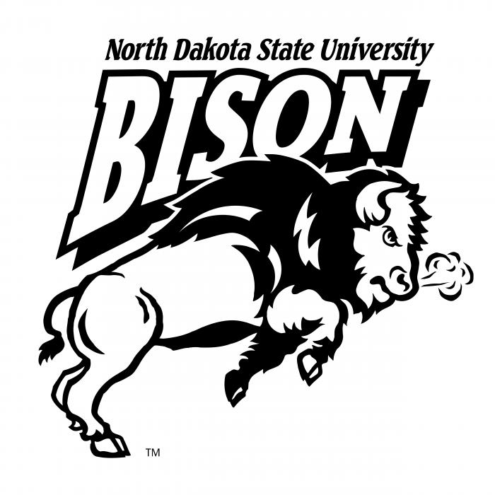 NDSU Bison logo white