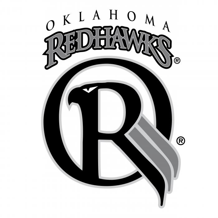 Oklahoma Redhawks logo grey