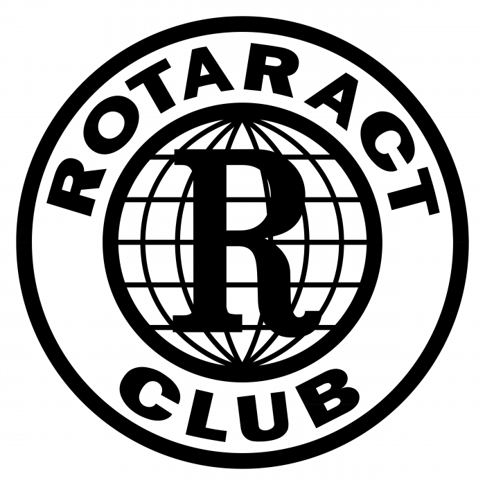 Rotaract Club logo black