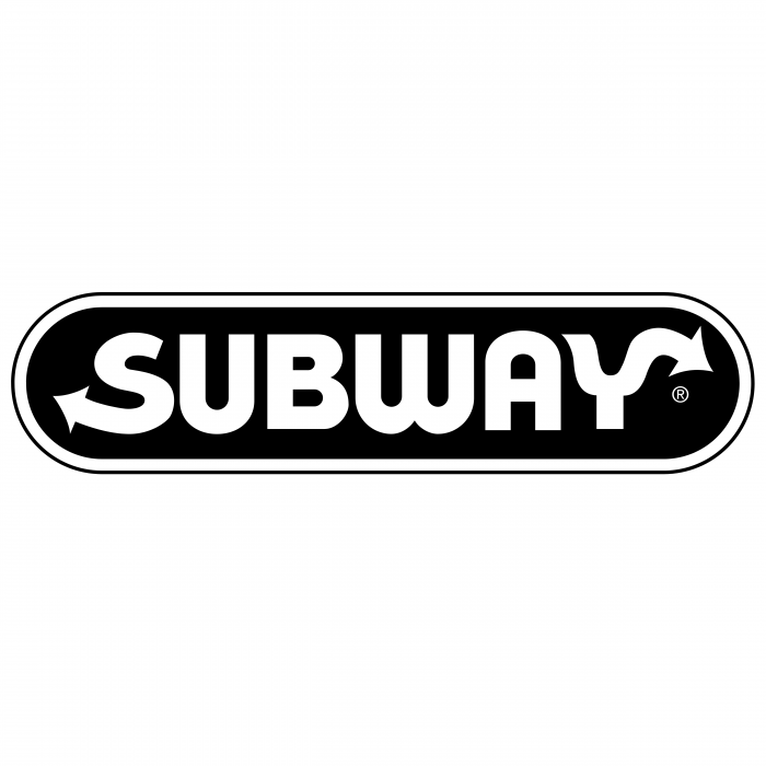 Subway logo black