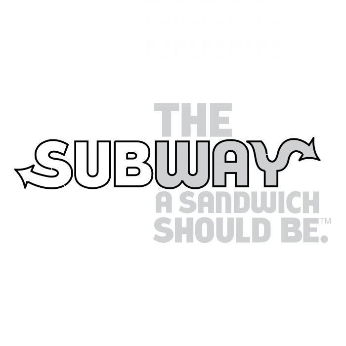 Subway logo grey