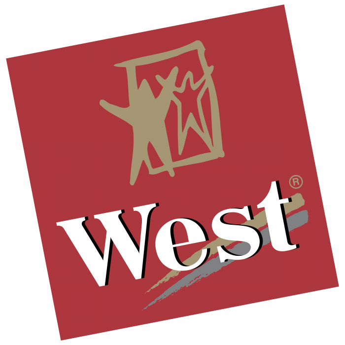 West logo red