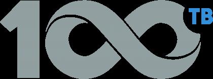 100TB logo grey